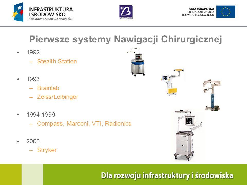Navigation Training & Education Internal Use Only Współczesne Systemy Nawigacji Chirurgicznej Tysiące systemów nawigacji są codziennie wykorzystywane do wspomagania pracy chirurgów wielu specjalności: –OTOLARYNGOLOGIA –NEUROCHIRURGIA –ONKOLOGIA –ORTOPEDIA –TRAUMATOLOGIA