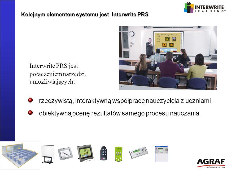 Interwrite PRS jest połączeniem narzędzi, umożliwiających: rzeczywistą, interaktywną współpracę nauczyciela z uczniami obiektywną ocenę rezultatów sam