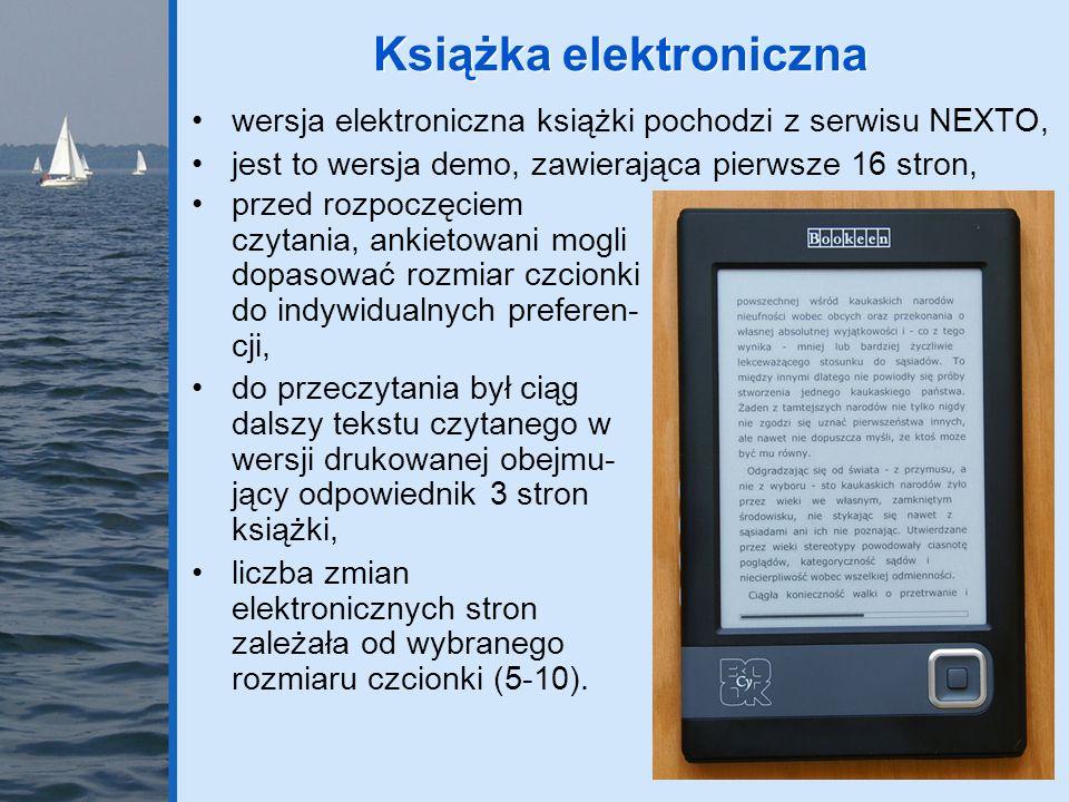 wersja elektroniczna książki pochodzi z serwisu NEXTO, jest to wersja demo, zawierająca pierwsze 16 stron, Książka elektroniczna przed rozpoczęciem cz