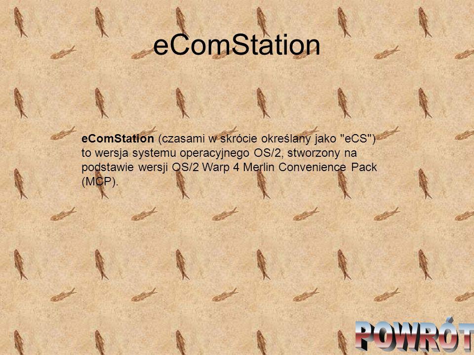 eComStation eComStation (czasami w skrócie określany jako