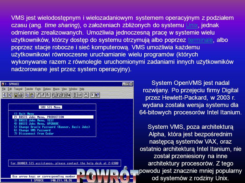 System OpenVMS jest nadal rozwijany. Po przejęciu firmy Digital przez Hewlett-Packard, w 2003 r. wydana została wersja systemu dla 64-bitowych proceso