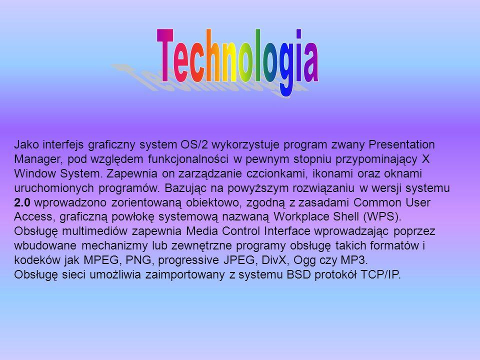 Jako interfejs graficzny system OS/2 wykorzystuje program zwany Presentation Manager, pod względem funkcjonalności w pewnym stopniu przypominający X W