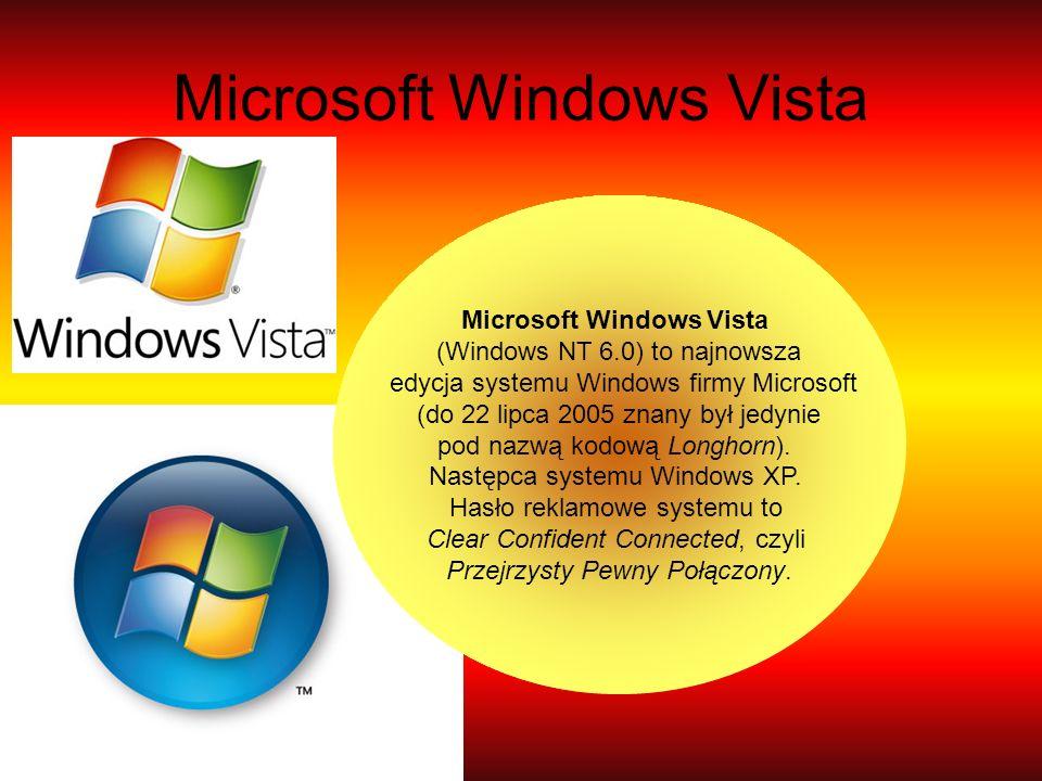 Microsoft Windows Vista (Windows NT 6.0) to najnowsza edycja systemu Windows firmy Microsoft (do 22 lipca 2005 znany był jedynie pod nazwą kodową Long