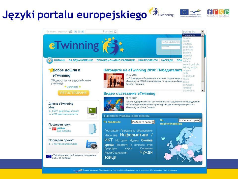 Języki portalu europejskiego
