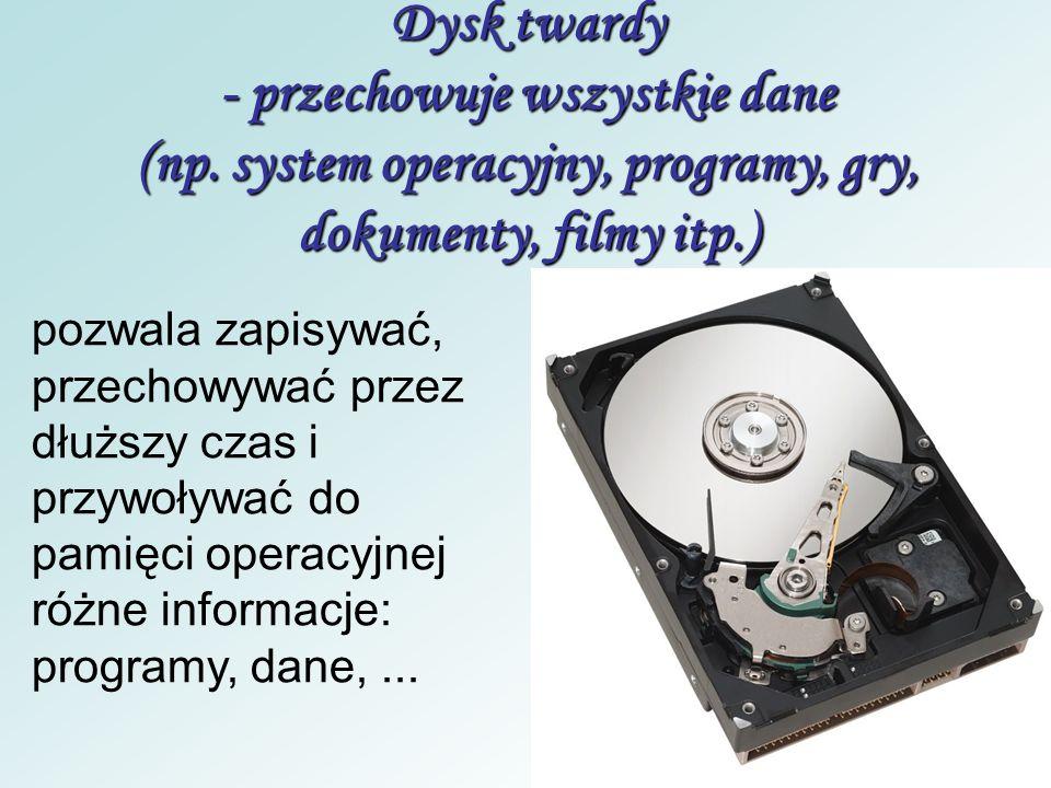 Karta sieciowa - odpowiada za połączenia między komputerami odpowiada za funkcje komunikacyjne - pozwala na łączenie się z innymi komputerami oraz Int