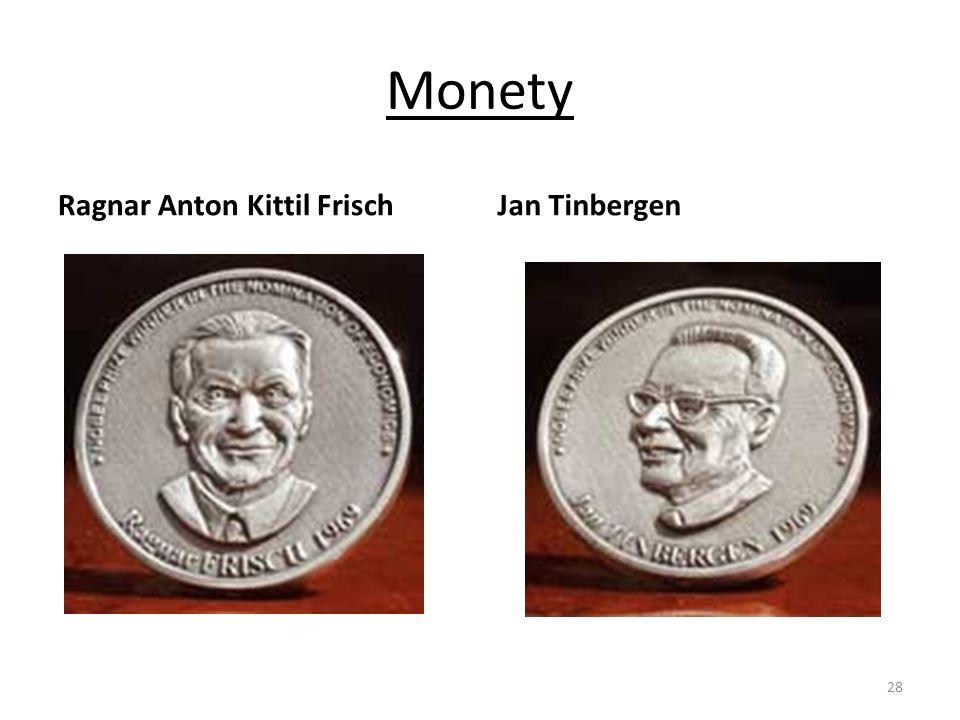 Monety Ragnar Anton Kittil FrischJan Tinbergen 28