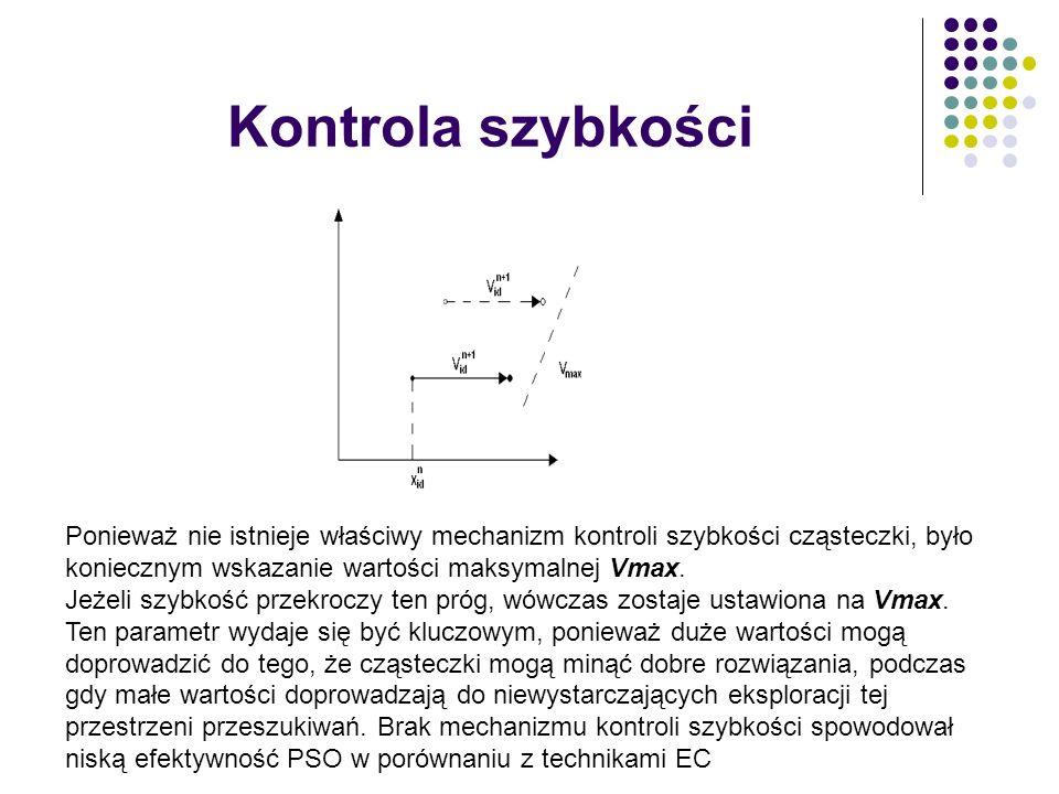 Kontrola szybkości Ponieważ nie istnieje właściwy mechanizm kontroli szybkości cząsteczki, było koniecznym wskazanie wartości maksymalnej Vmax. Jeżeli
