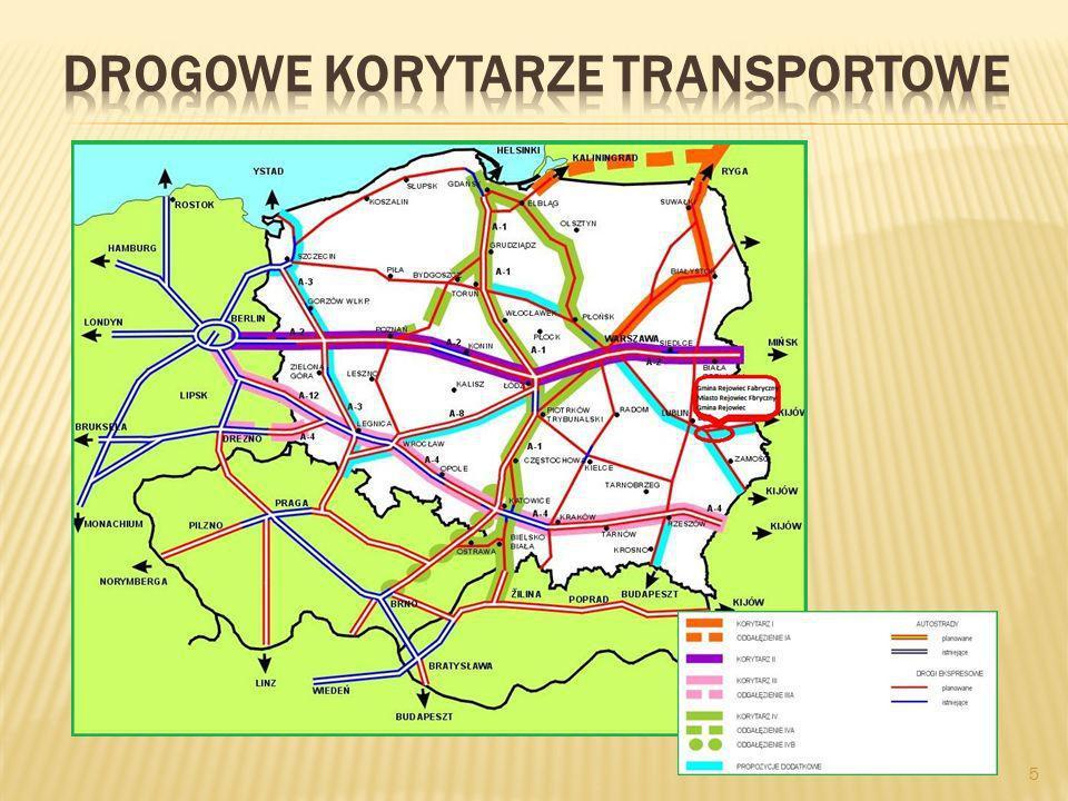 6 Przebieg linii kolejowej Warszawa – Kijów przez obszar Gminy Rejowiec Fabryczny, Miasta Rejowiec Fabryczny i Gminy Rejowiec