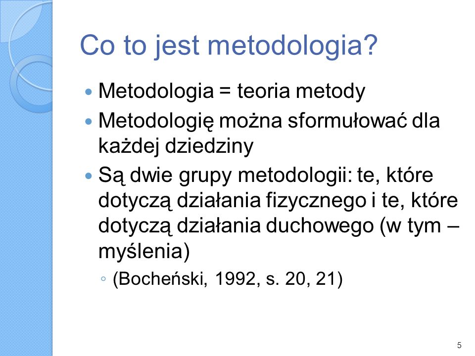 Co to jest metodologia.
