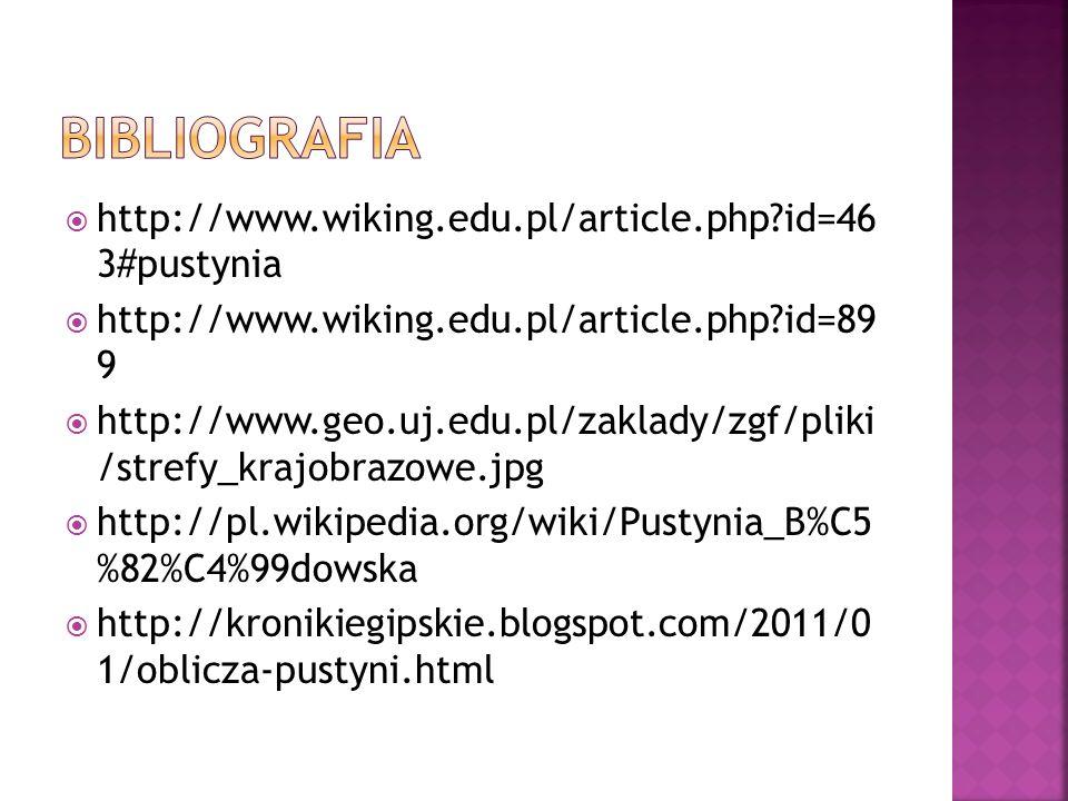 http://www.wiking.edu.pl/article.php?id=46 3#pustynia http://www.wiking.edu.pl/article.php?id=89 9 http://www.geo.uj.edu.pl/zaklady/zgf/pliki /strefy_