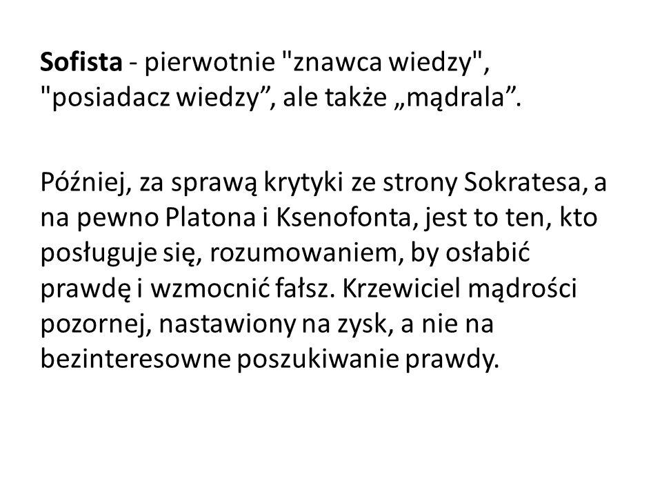 Sofista - pierwotnie