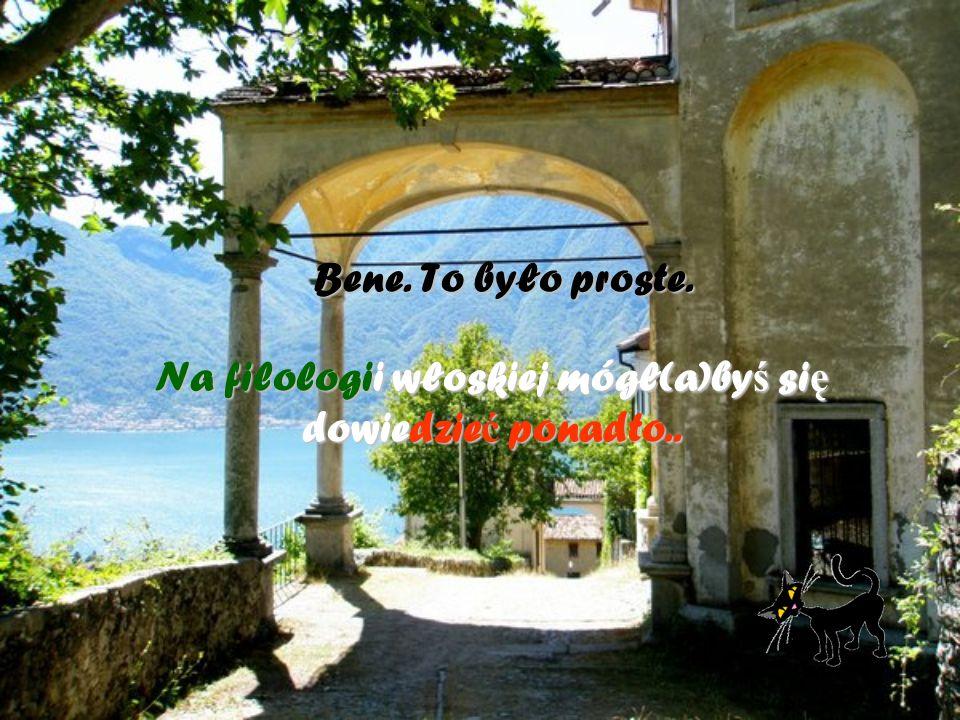 a) czy caffè c cc coretto to to samo, co caffè a aa amaretto b) co napisał Dante, a co Petrarca.