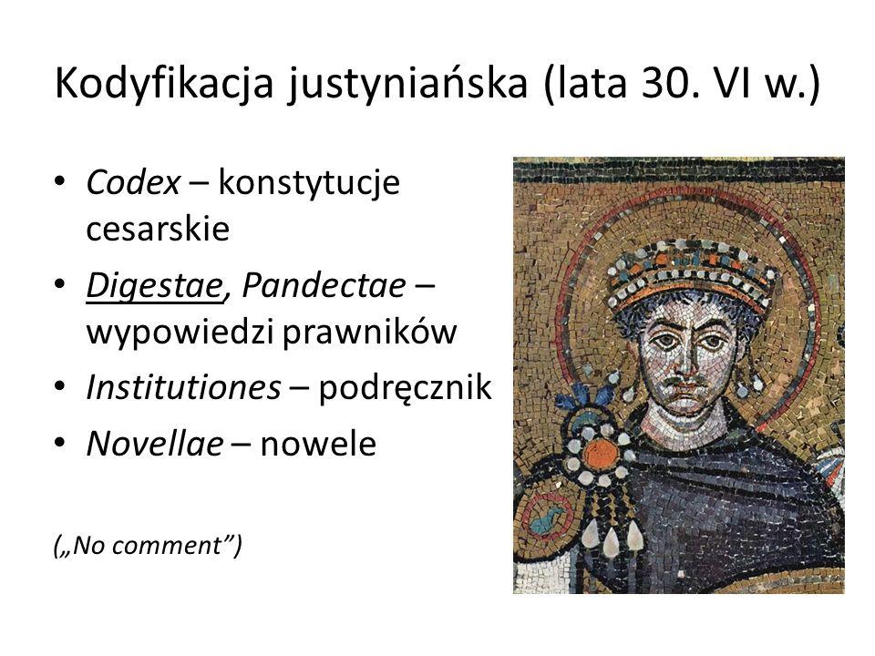 Kodyfikacja justyniańska (lata 30.