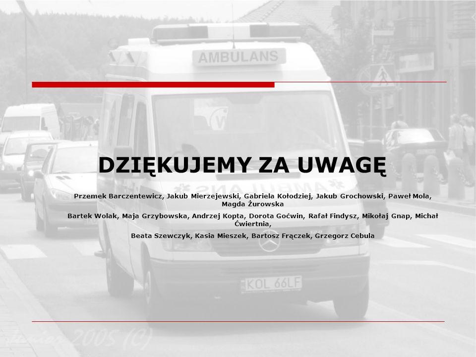DZIĘKUJEMY ZA UWAGĘ Przemek Barczentewicz, Jakub Mierzejewski, Gabriela Kołodziej, Jakub Grochowski, Paweł Mola, Magda Żurowska Bartek Wolak, Maja Grz