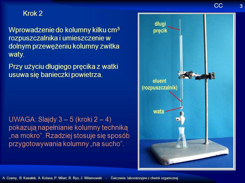 A. Czarny, B. Kawałek, A. Kolasa, P. Milart, B. Rys, J. Wilamowski - Ćwiczenia laboratoryjne z chemii organicznej 3 Krok 2 Wprowadzenie do kolumny kil