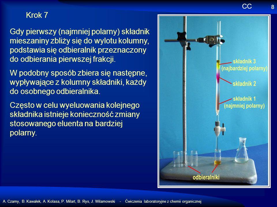 A. Czarny, B. Kawałek, A. Kolasa, P. Milart, B. Rys, J. Wilamowski - Ćwiczenia laboratoryjne z chemii organicznej 8 Krok 7 Gdy pierwszy (najmniej pola