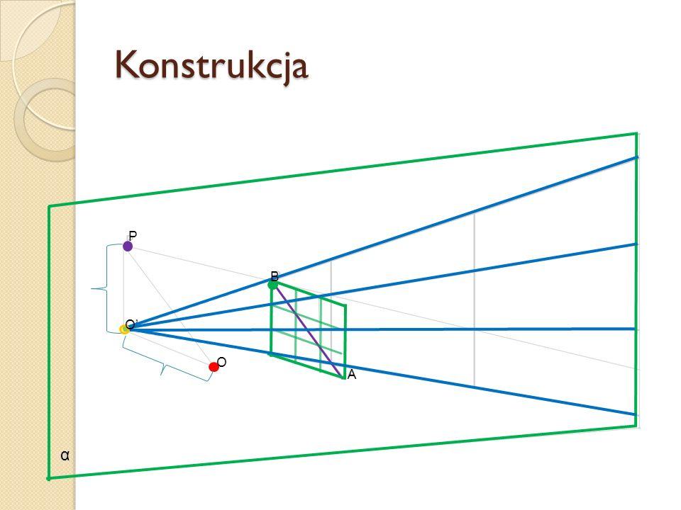 Konstrukcja α O O A B P