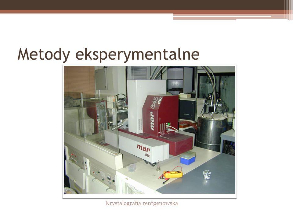 Metody eksperymentalne Krystalografia rentgenowska