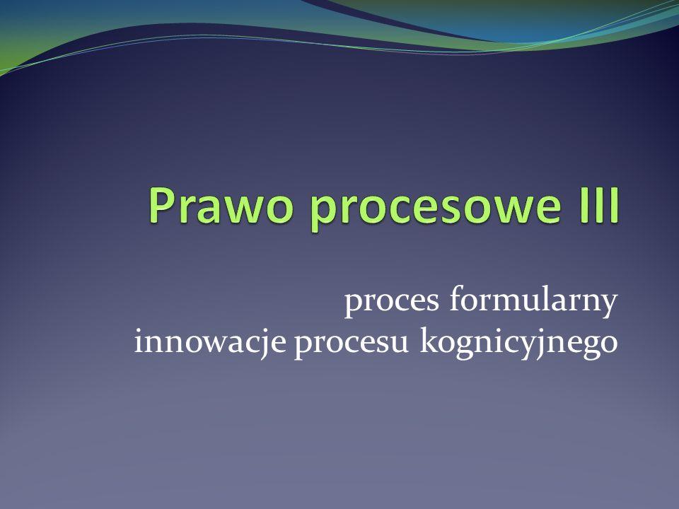 proces formularny innowacje procesu kognicyjnego