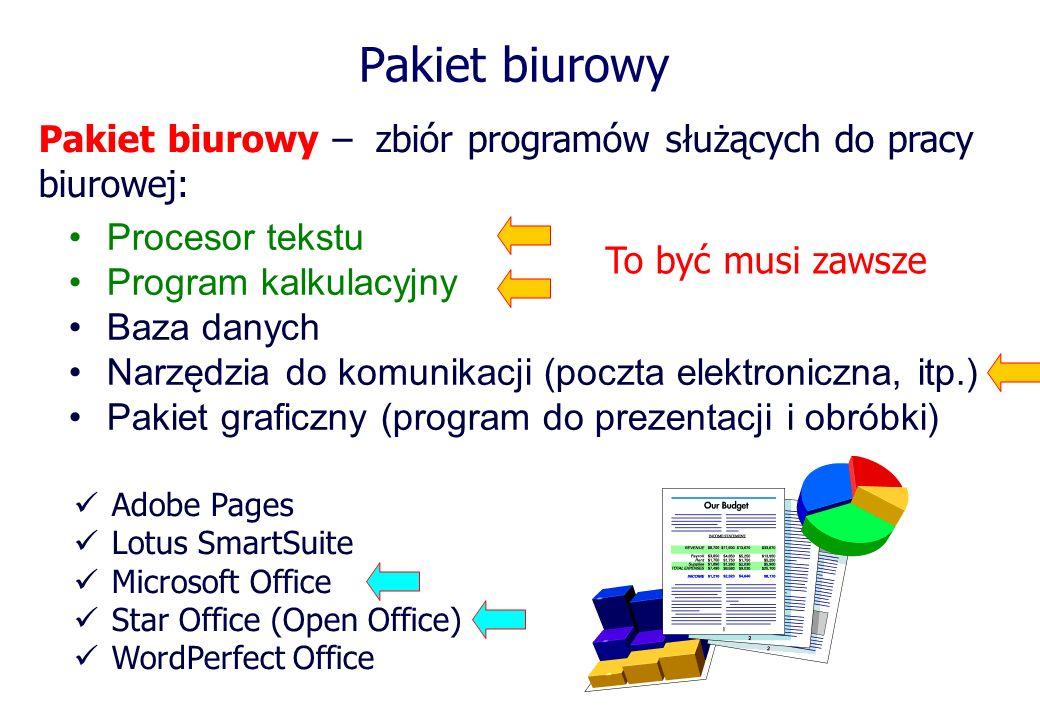 Microsoft Office Może być uruchamiany na następujących platformach Windows Apple Macintosh Linux – przy użyciu: CrossOverOffice lub WINE Office 2010 (Word 2010, itd.) Office 2011 (Word 2011, itd.) Windows Apple Najnowsze wersje