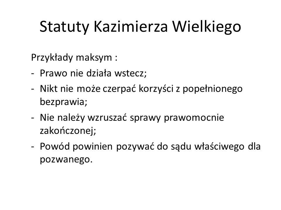 Statut Jana Łaskiego (1506) Program egzekucji praw.