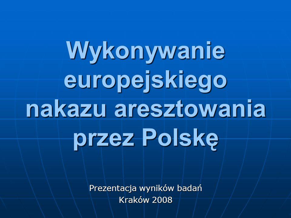 Ilość osób przekazanych z terytorium RP w wykonaniu Europejskiego Nakazu Aresztowania
