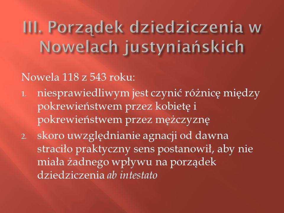 Nowela 118 z 543 roku: 1.