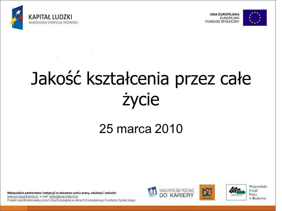 Jakość kształcenia przez całe życie 25 marca 2010