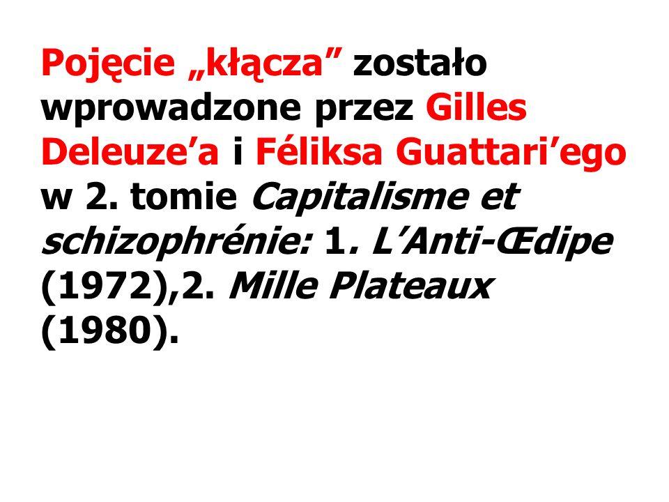 Pojęcie kłącza zostało wprowadzone przez Gilles Deleuzea i Féliksa Guattariego w 2.