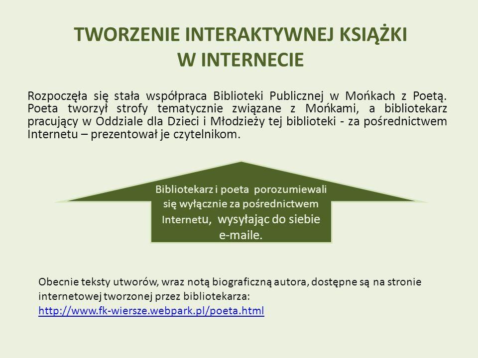 Rozpoczęła się stała współpraca Biblioteki Publicznej w Mońkach z Poetą.