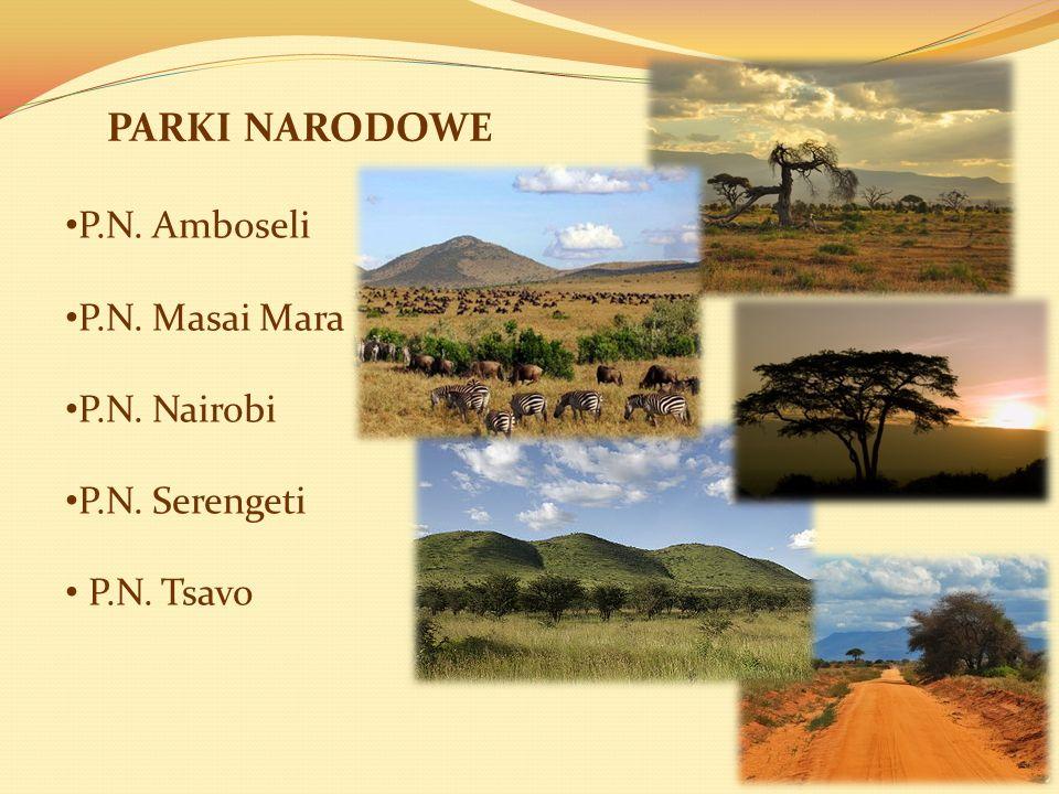 PARKI NARODOWE P.N. Amboseli P.N. Masai Mara P.N. Nairobi P.N. Serengeti P.N. Tsavo