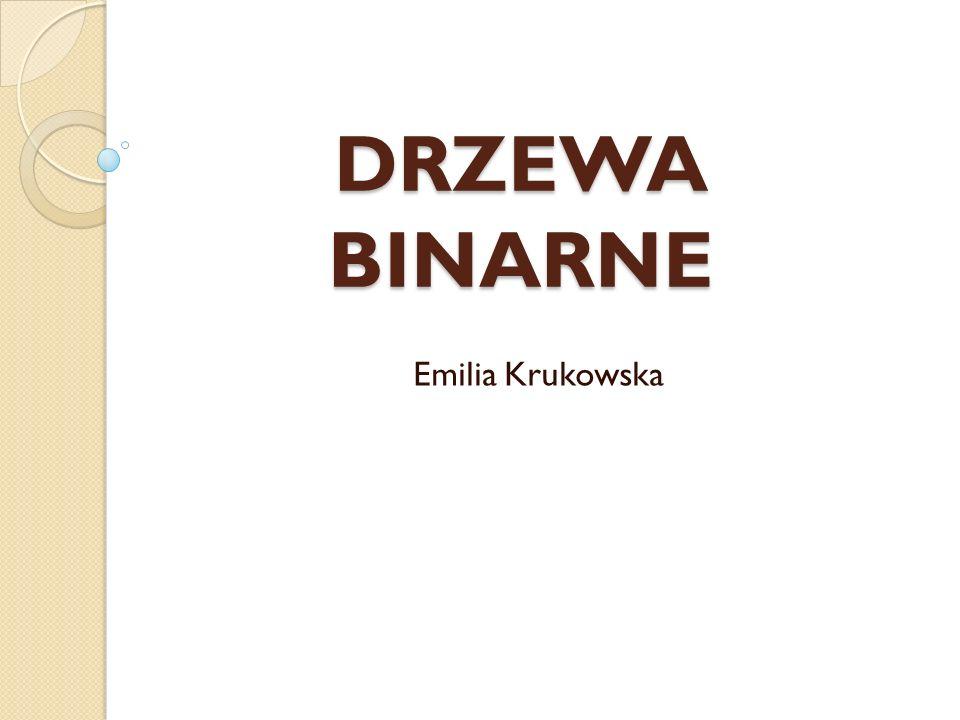 DRZEWA BINARNE Emilia Krukowska
