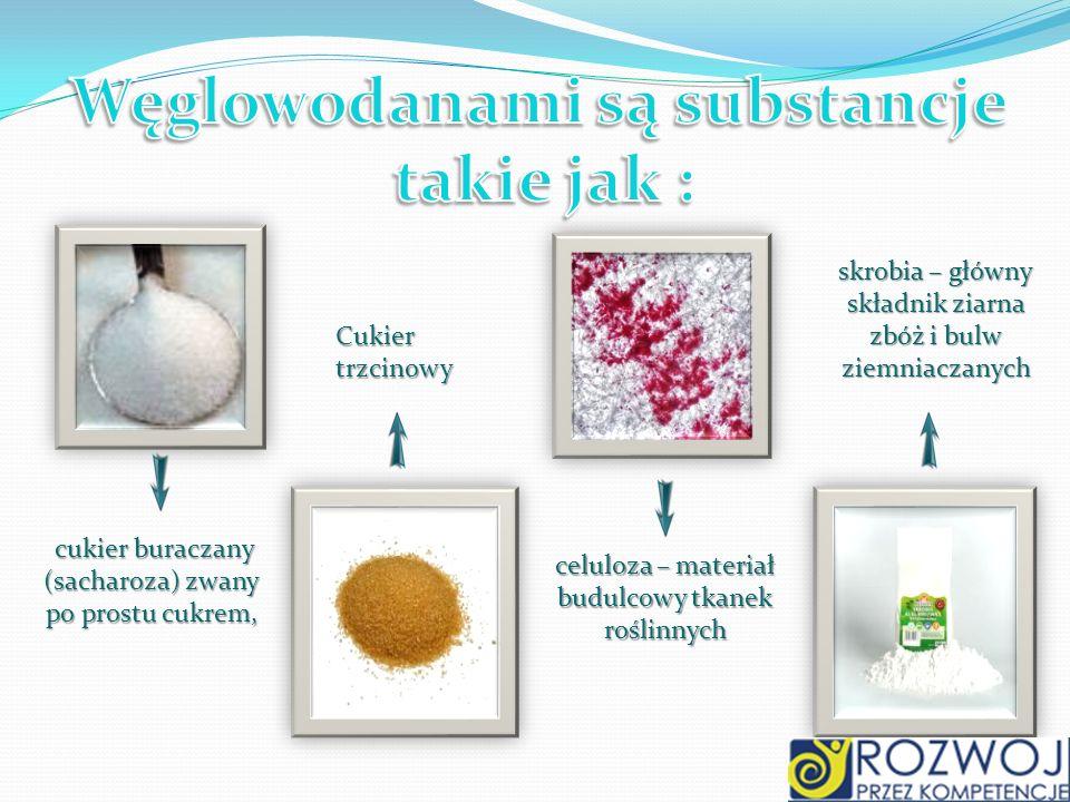 cukier buraczany (sacharoza) zwany po prostu cukrem, cukier buraczany (sacharoza) zwany po prostu cukrem, Cukier trzcinowy skrobia – główny składnik z