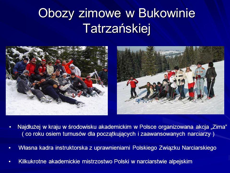 Obozy zimowe w Bukowinie Tatrzańskiej Najdłużej w kraju w środowisku akademickim w Polsce organizowana akcja Zima ( co roku osiem turnusów dla początk