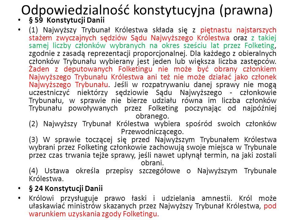 Odpowiedzialność konstytucyjna (prawna) członków rządu Artykuł 86 Konstytucji Grecji 1.