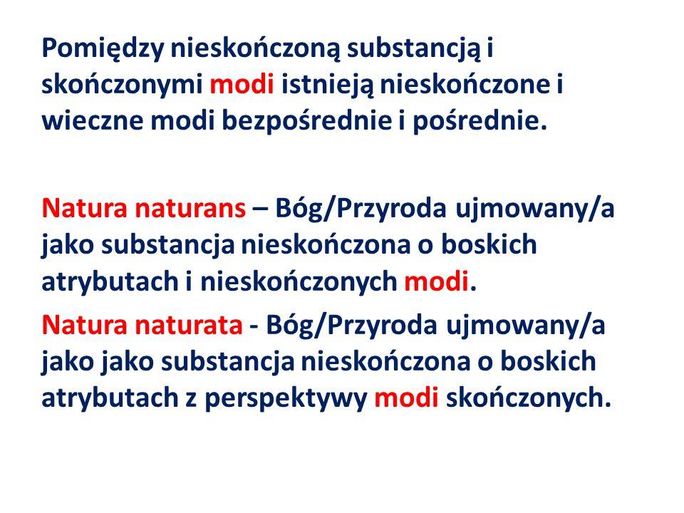 Pomiędzy nieskończoną substancją i skończonymi modi istnieją nieskończone i wieczne modi bezpośrednie i pośrednie.