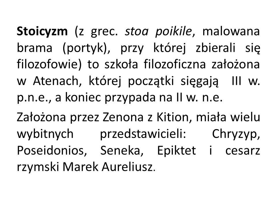 Stoicyzm (z grec.