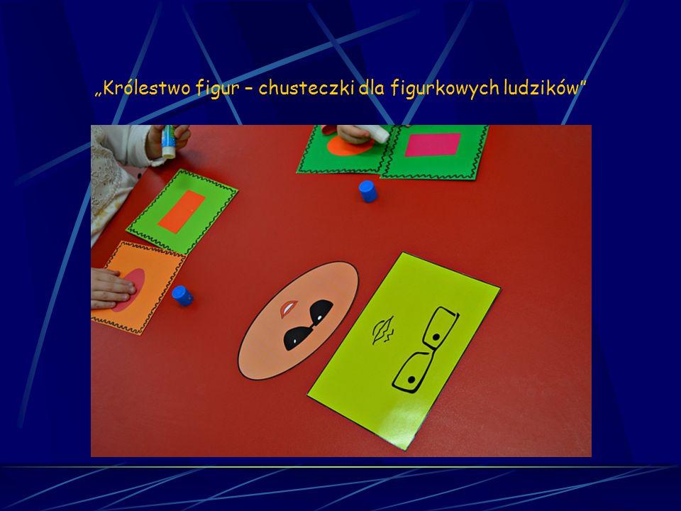 Matematyka sensoryczna Sesja 6 Królestwo figur – chusteczki dla figurkowych ludzików