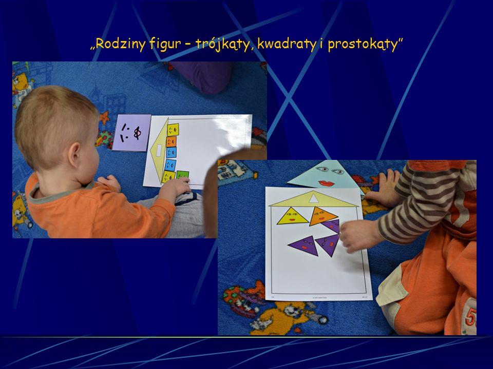 Matematyka sensoryczna Sesja 22 Rodziny figur – trójkąty, kwadraty i prostokąty