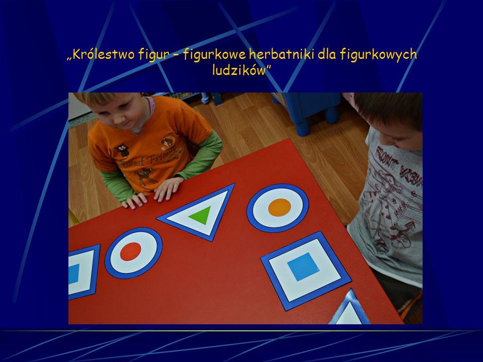Matematyka sensoryczna Sesja 3 Królestwo figur - figurkowe herbatniki dla figurkowych ludzików