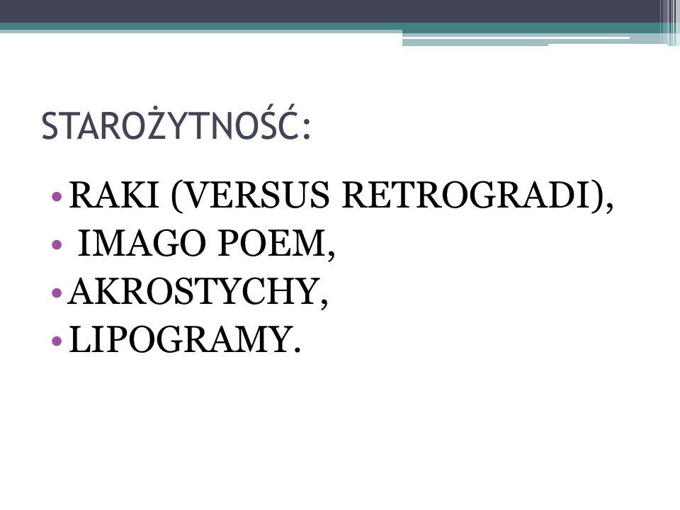 IMAGO POEM Hraban Maur wykorzystuje obrys prostokąta, w który wpisuje główny tekst.