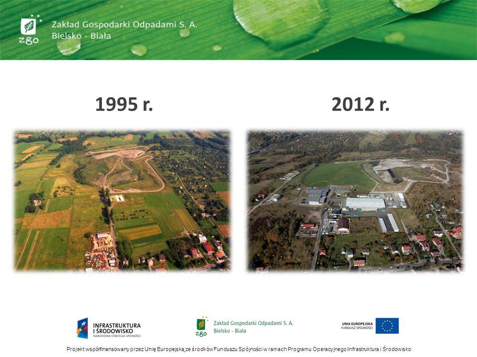 Projekt współfinansowany przez Unię Europejską ze środków Funduszu Spójności w ramach Programu Operacyjnego Infrastruktura i Środowisko 1995 r.2012 r.