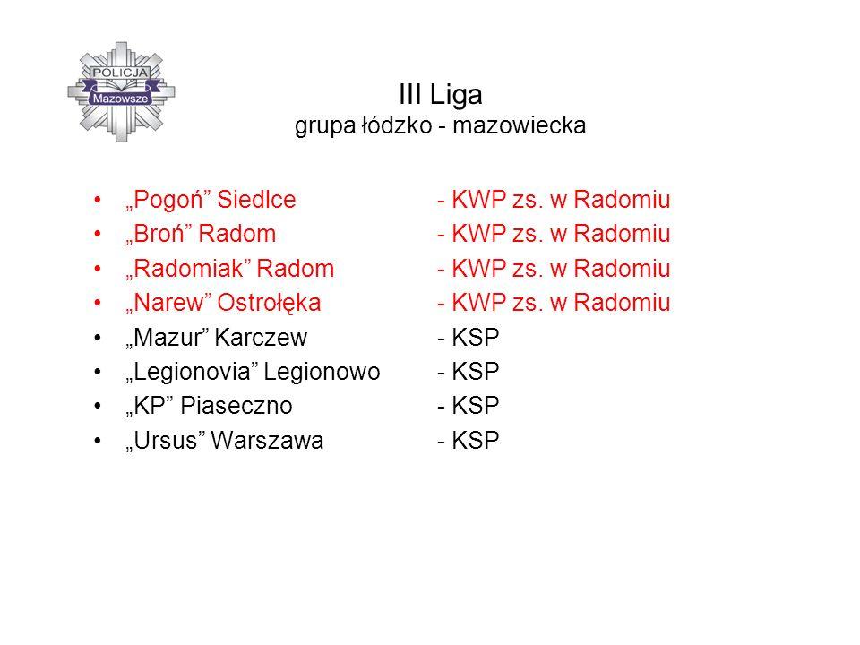 IV Liga grupa północ Kasztelan Sierpc – KWP zs.w Radomiu Kryształ Glinojeck– KWP zs.