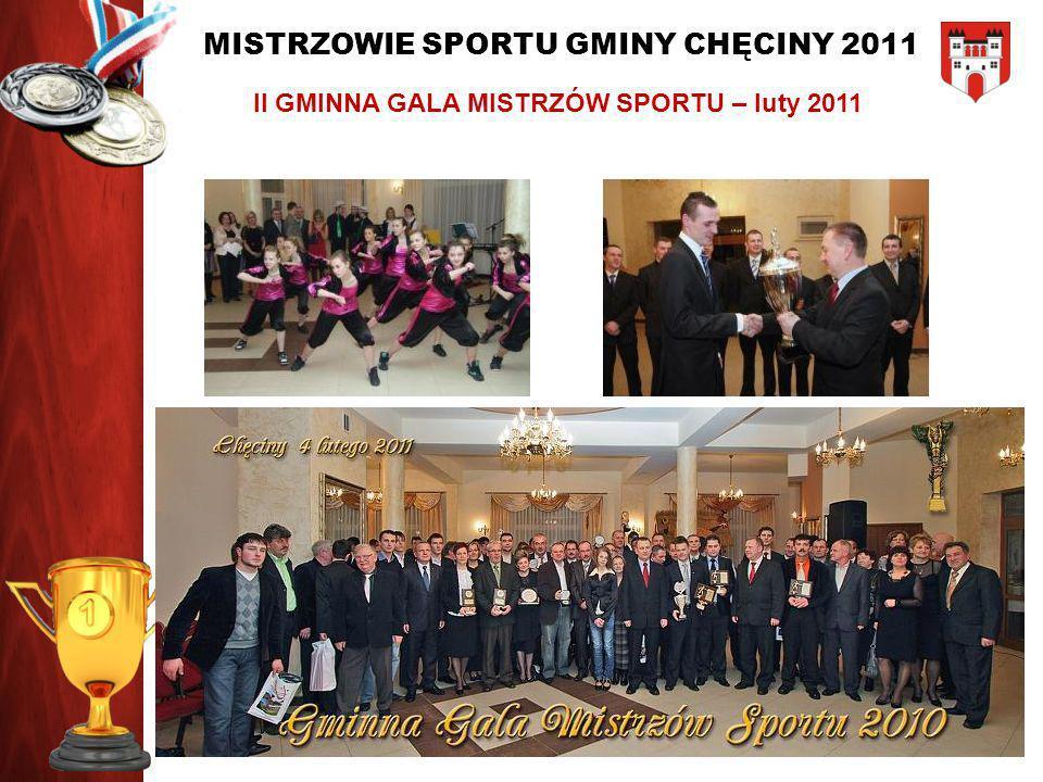 MISTRZOWIE SPORTU GMINY CHĘCINY 2011 NOMINOWANI W KATEGORII: SPORTOWIEC ROKU 2011 Patrycja Sperka Paweł Zięba Tomasz Brzyśkiewicz