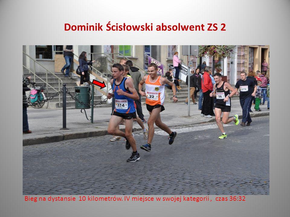 Michał Jaśniewski absolwent ZS 2 Bieg na dystansie10 kilometrów czas 38:25