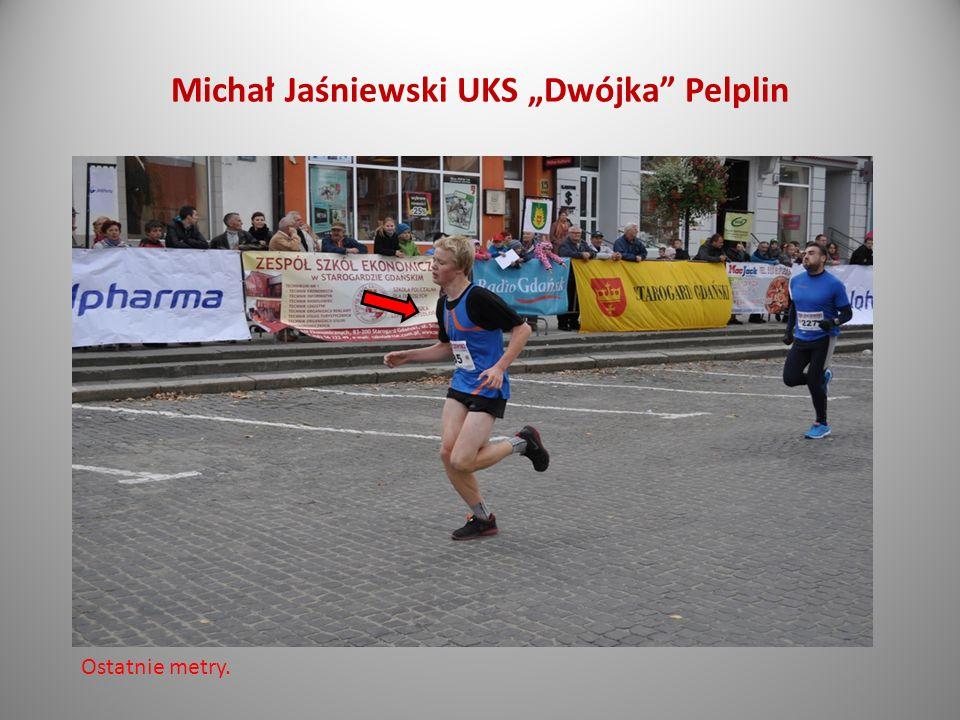 Dominik Ścisłowski UKS Dwójka Pelplin Finisz był ostry.