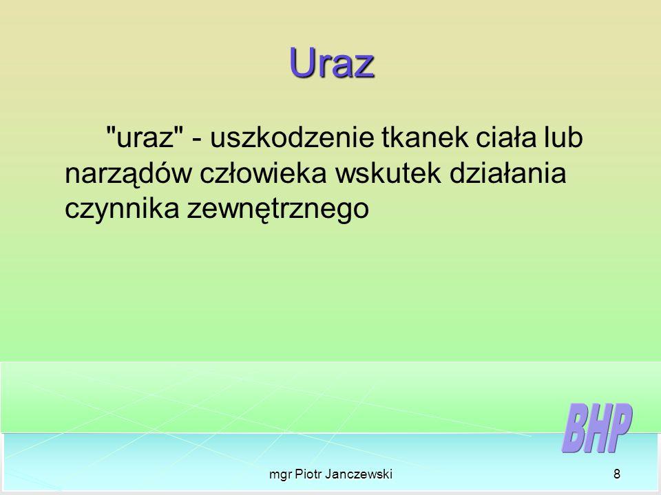 mgr Piotr Janczewski8 Uraz