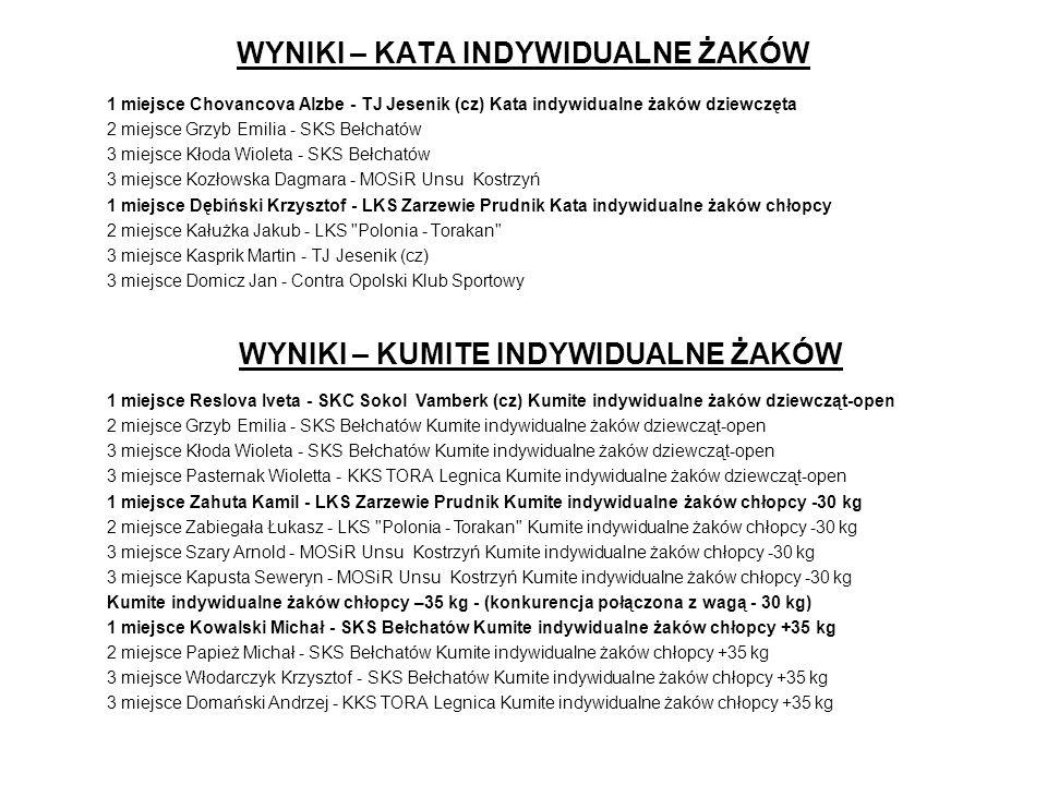 III EUROPEAN CUPRUM CUP in KARATE - LEGNICA OPEN 2002 Nagrody Ogółem rozdano medali: ZłoteSrebrneBrązoweRazem 282750105