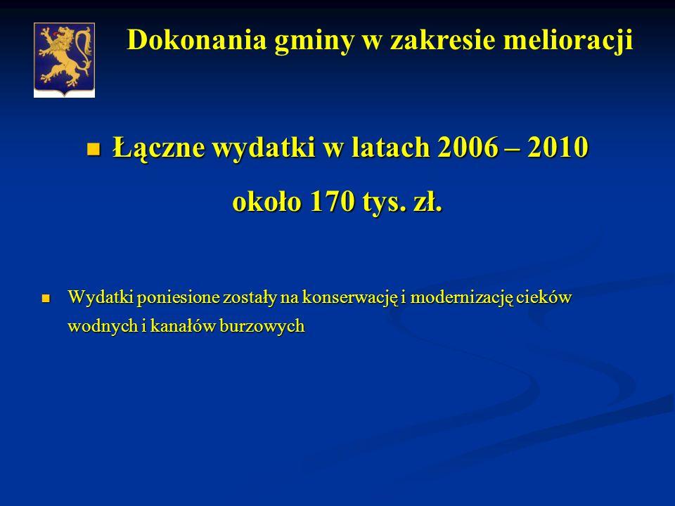 Łączne wydatki w latach 2006 – 2010 Łączne wydatki w latach 2006 – 2010 około 170 tys.
