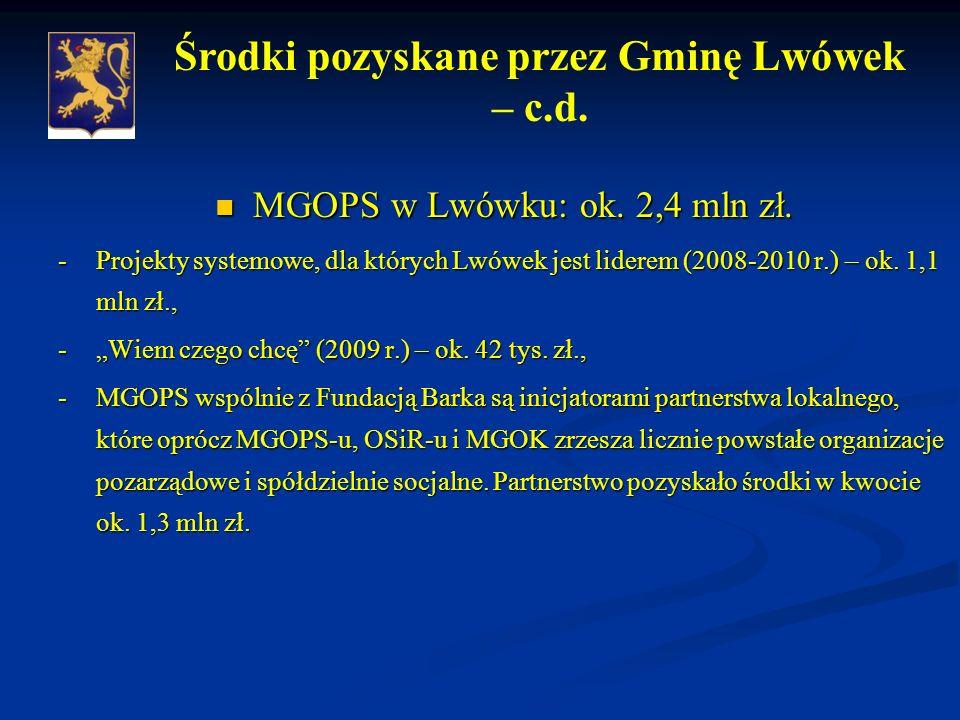 MGOPS w Lwówku: ok. 2,4 mln zł. MGOPS w Lwówku: ok.
